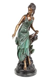 Art Nouveau Style Bronze Figure
