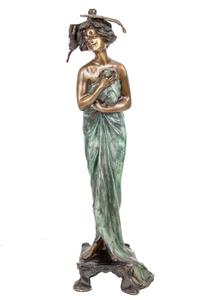 Art Nouveau Style Bronze Figure after Lucien Alliot