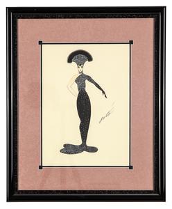 Erte (1892-1990) Serigraph