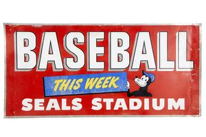 Seals Stadium Baseball Sign