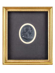 Wedgwood and Bentley Basalt Portrait Medallion, David Garrick