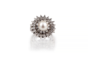 Pearl & Diamond 14k RIng