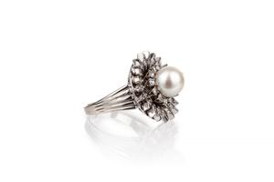 Pearl & Diamond 14k RIng