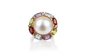 Mabe Pearl 14k Ring