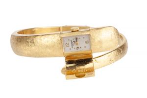 Lady's Baume & Mercier 18k Cuff Watch