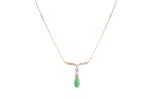 Jade & Diamond 14k Necklace