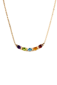 Multi Colored Stone 14k Necklace