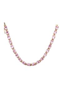 Pink Cubic Zirconia 14k Bracelet