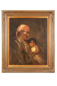 Large Grace Carpenter Hudson (1865-1937) Painting, #580