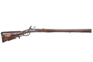 I.Obst in Linz Flintlock Hunting Rifle