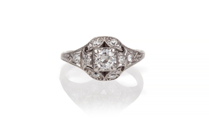 Diamond14k White Gold Ring