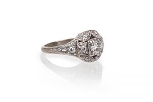Diamond14k White Gold Ring