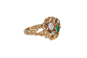 Emerald Diamond 14k RIng