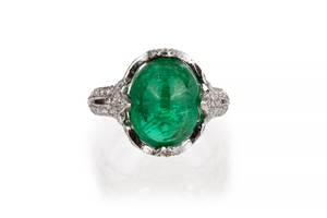 Emerald Diamond 18k Ring