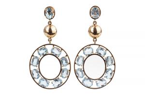Aquamarine 14k Earrings