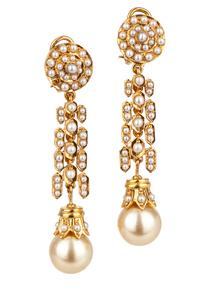 Golden South Sea Pearl 22k Earrings