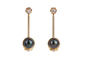 Pearl Diamond Earrings & Earring Jackets