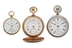 Three California AGENT Marked Pocket Watches