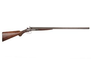 J.P. Clabrough & Bros. 10 Gauge Double-barreled Outside Hammer Shotgun