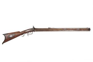 G.O. Leonard, Keene N.H. Double-barreled Over & Under Percussion Rifle