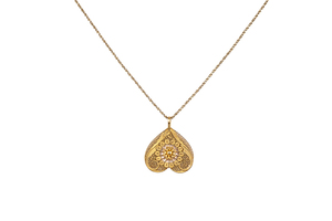 14k Yellow Gold Necklace and Pendant, 6 grams