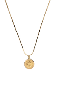 1906 Great Britain Gold Sovereign Edward the VII Pendant on Gold Chain