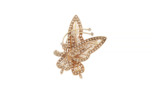 18k Gold and Diamond Brooch, 8 grams