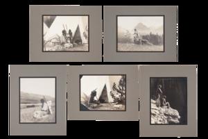 Five Glacier National Park Photographic Prints, circa 1912