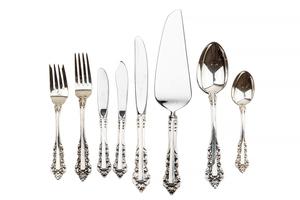 64- Piece Gorham Sterling Silver Flatware,