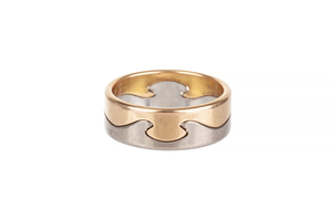 Georg Jensen Gold Puzzle Ring