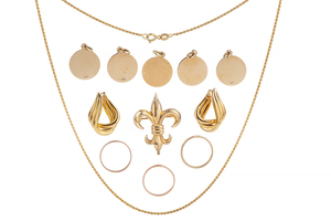 Assorted 14k Gold Jewelry, 25 grams