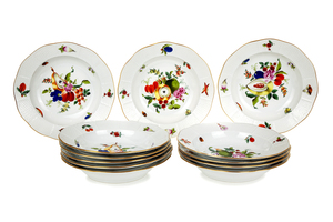 Herend Fruits and Flowers Bowls