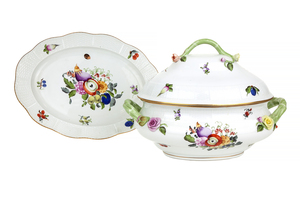 Herend Fruits and Flowers Tureen and Underplate