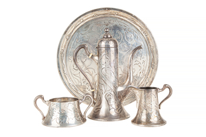 Sterling Silver Tea Service, 32 ozt