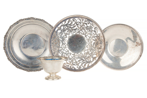 Four Sterling Silver Bowls and Plates, 36.45 ozt