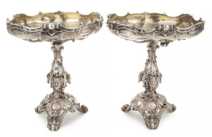 Pair of Sy & Wagner Silver Tazzas, 110.89 ozt