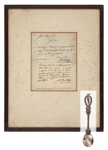 Napoleon Document and His Silver Spoon
