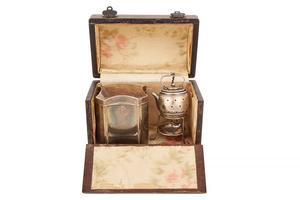 Cased Sterling Silver Traveling Tea Set