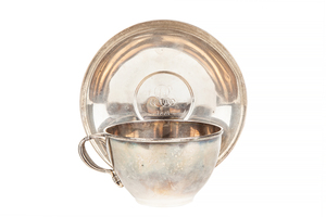 Tiffany and Co. Sterling Silver Cup and Saucer, 10.54 ozt