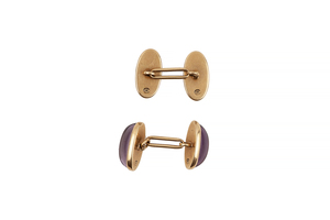 14k Amethyst Cuff Links