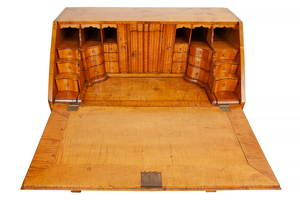 Chippendale Figured Maple Slant Front Desk, Pennsylvania, circa 1760-1780