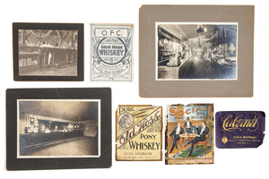 Arizona Territory Whiskey Labels, and Victorian Saloon Photographs