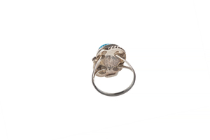 Four Native Turquoise Rings, 0.84 ounces