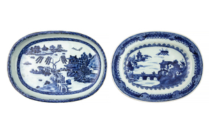 Two 18th Century Chinese Export Nanking Plates