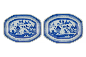 Two Chinese Export Nanking Platters