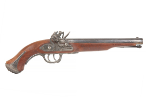 A Double Barreled Flintlock Pistol for Display Only