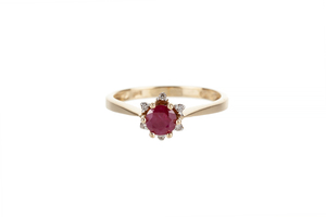 Ruby Diamond 14k Ring