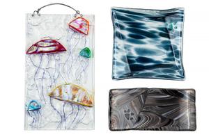 Three Art Glass Items