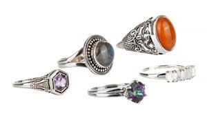 Five Sterling Rings