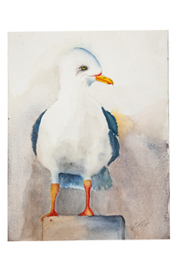 Stephen Clark Two Sided Watercolor Painting